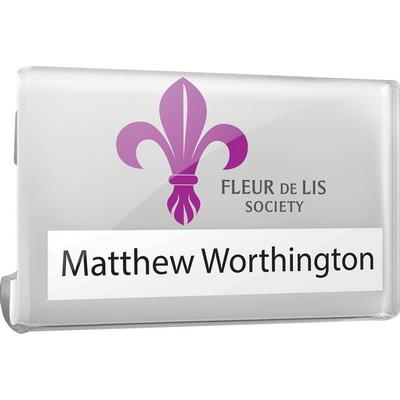 Image of Clear Acrylic Re-usable Name Badges